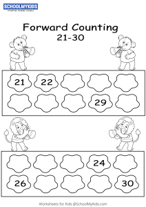 Forward Counting 21 to 30