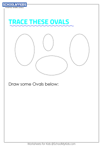 Learning Shapes -  Trace and Draw a Oval