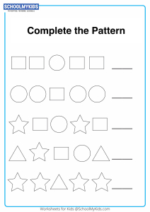 Draw the Missing Shape Pattern