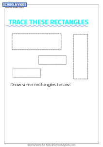 Learning Shapes -  Trace and Draw a Rectangle