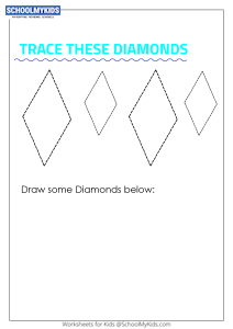 Learning Shapes -  Trace and Draw a Diamond (Rhombus)
