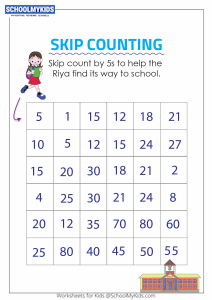 Skip Counting by 5s Puzzle - Skip Counting Maze