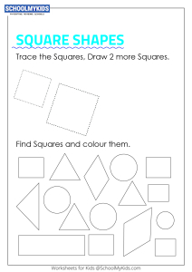 Trace, Draw, Find and Color Square Shapes