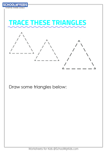 Learning Shapes -  Trace and Draw a Triangle
