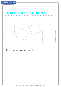 Learning Shapes -  Trace and Draw a Square