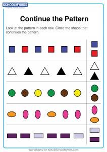 Finish the Shape Pattern