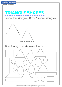 Trace, Draw, Find and Color Triangle Shapes