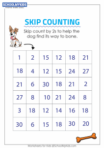 Skip Counting by 2s Puzzle - Skip Counting Maze