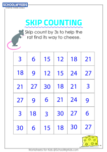 Skip Counting by 3s Puzzle - Skip Counting Maze