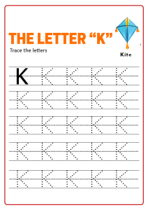 Practice Capital Letter K - Uppercase Letter Tracing