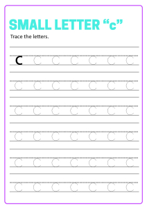 Writing Small Letter c - Lowercase Letter Tracing