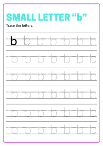 Writing Small Letter b - Lowercase Letter Tracing