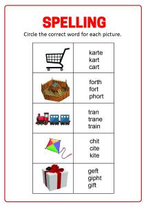 Spelling - Circle the correct word
