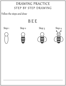 How to Draw a Bee - Step by Step Drawing