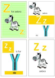 Alphabet Flash Cards - Flashcard Letter Z