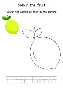 Colour the Fruits - Lemon Coloring