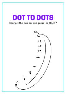 Connect the Dots - Banana Dot to Dot