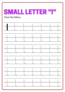 Writing Small Letter L Lowercase Letter Tracing Worksheets For Preschool Kindergarten First Grade English Worksheets Schoolmykids Com