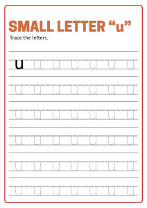 Writing Small Letter u - Lowercase Letter Tracing