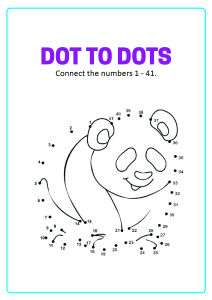 Connect the Dots - Bear Dot to Dot