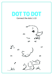 Connect the Dots - Duck Dot to Dot