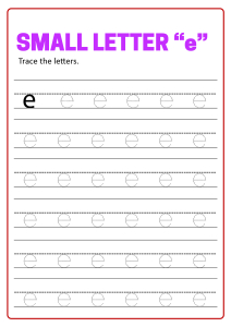 Writing Small Letter e - Lowercase Letter Tracing