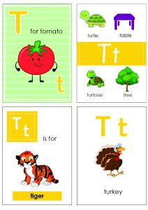Alphabet Flash Cards - Flashcard Letter T