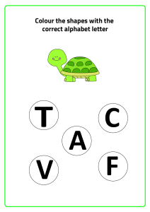 T for Turtle - Practice Beginning Letter