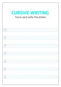 Capital Cursive Alphabet Writing - M - S
