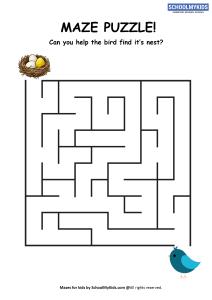 Bird Nest Maze Puzzle