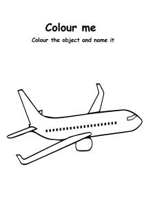 Color Me Aeroplane - Transportation Coloring Pages