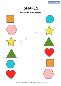 Matching similar shapes - 2d Shapes