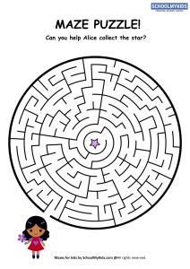Alice Star Maze Puzzle