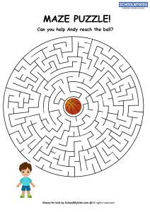Boy Ball Maze Puzzle