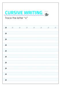 Letter o - Lowercase Cursive Writing