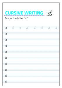 Letter d - Lowercase Cursive Writing