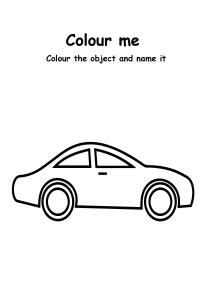 Color Me - Car - Transportation Coloring Pages