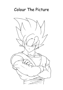 Goku from Dragon Ball Z Coloring Pages