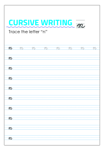 Letter n - Lowercase Cursive Writing