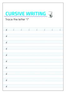 Letter i - Lowercase Cursive Writing