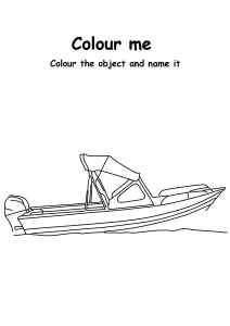 Color Speed Boat - Transportation Coloring Pages