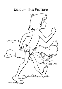 Mowgli walking Coloring Pages