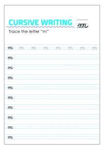 Letter m - Lowercase Cursive Writing