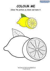 Colour Me Lemon Coloring Pages