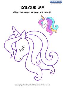 Colour Me - Unicorn Coloring Pages