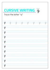 Letter q - Lowercase Cursive Writing