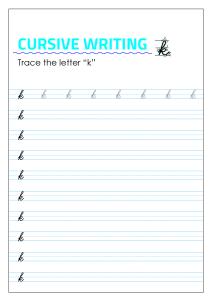 Letter k - Lowercase Cursive Writing