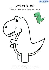 Colour Me - Dinosaur Coloring Pages