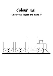 Color Me Toy Train - Transportation Coloring Pages