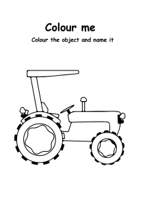 Color Me Tractor - Transportation Coloring Pages
